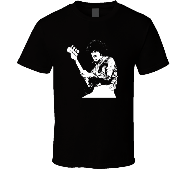 Phil Lynott Thin Lizzy Black And White T Shirt