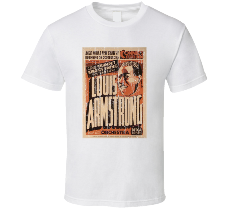 Louis Armstrong Vintage Poster T Shirt