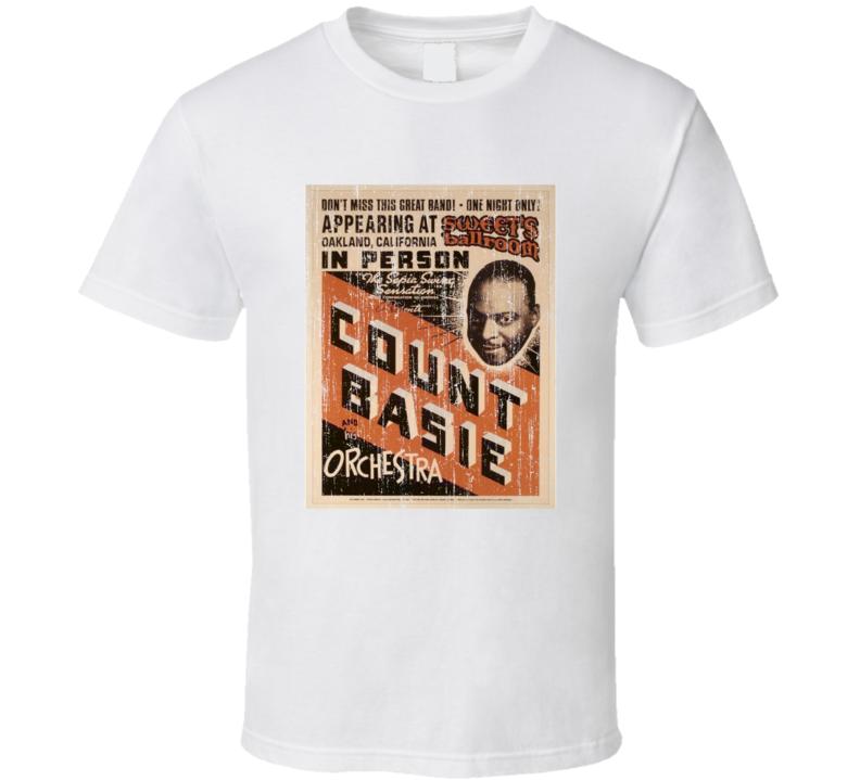 Count Basie Vintage Concert Poster T Shirt