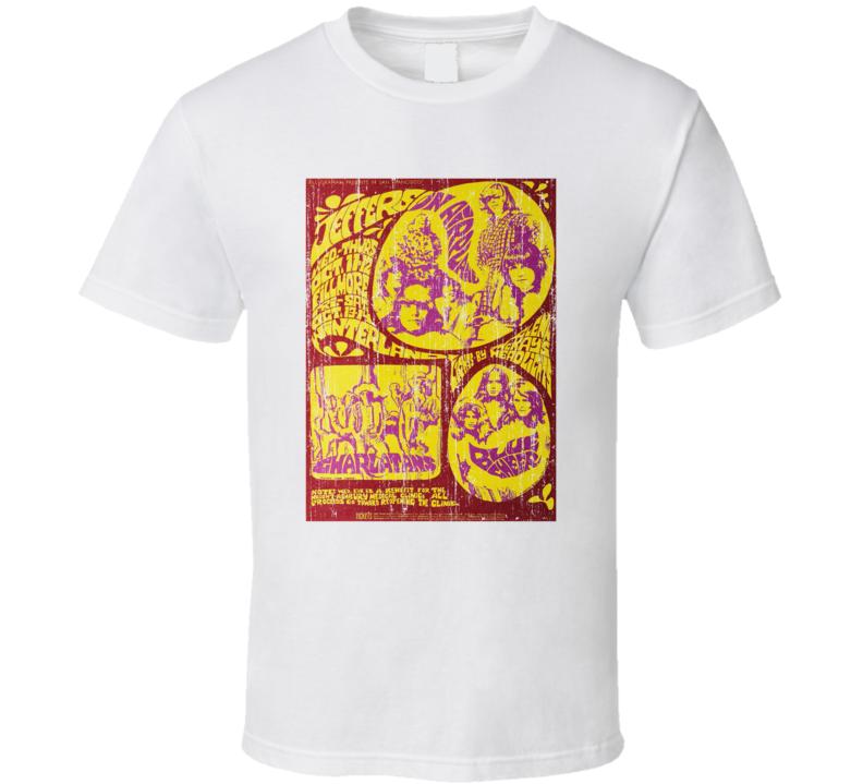 Fillmore West Vintage Concert Poster T Shirt