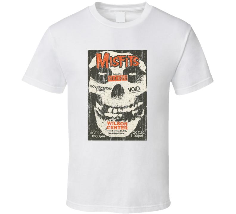 Misfits Vintage Concert Poster T Shirt