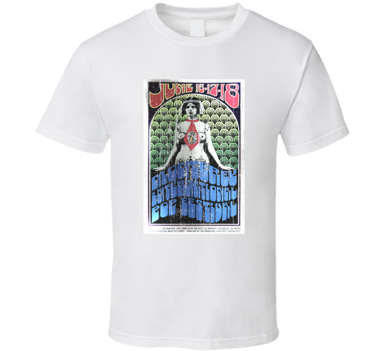 Monterey Pop Festival Vintage Poster T Shirt
