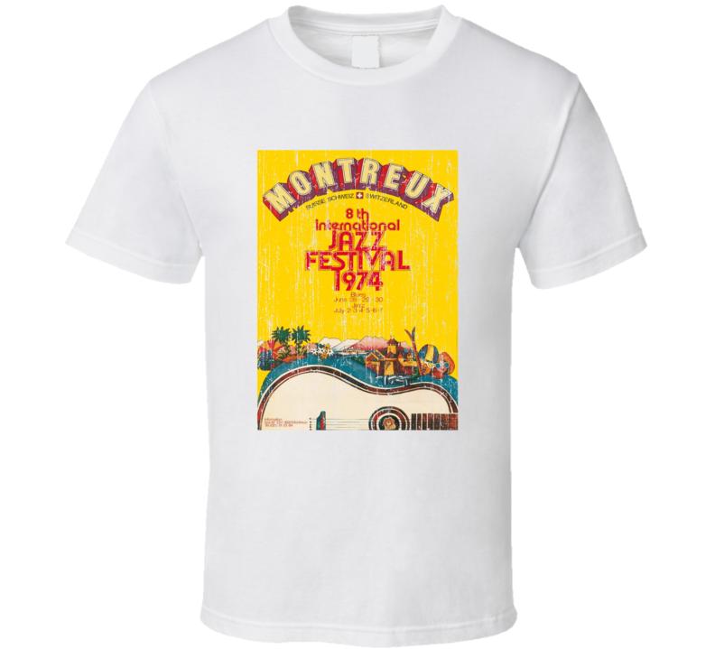 Montreux Jazz Festival Vintage Poster T Shirt