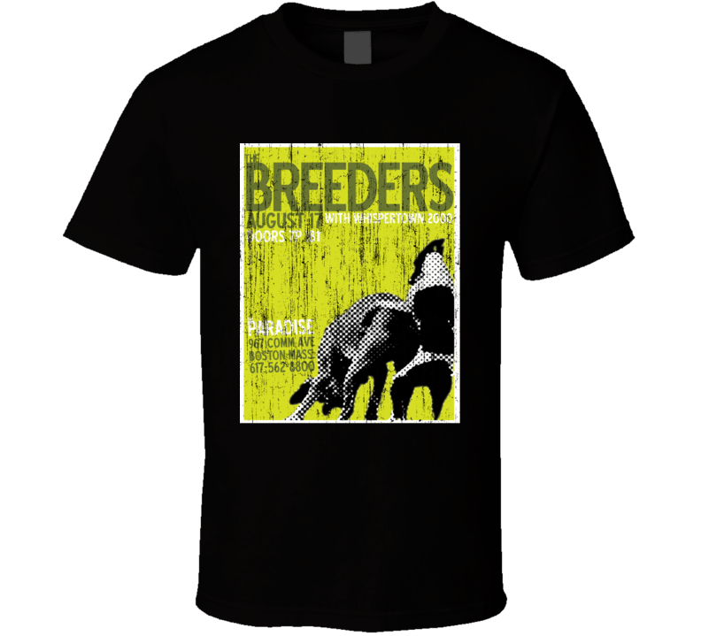The Breeders Concert Poster Distressed Image T Shirt