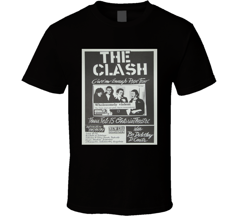 The Clash Concert Poster Faded Image T Shirt