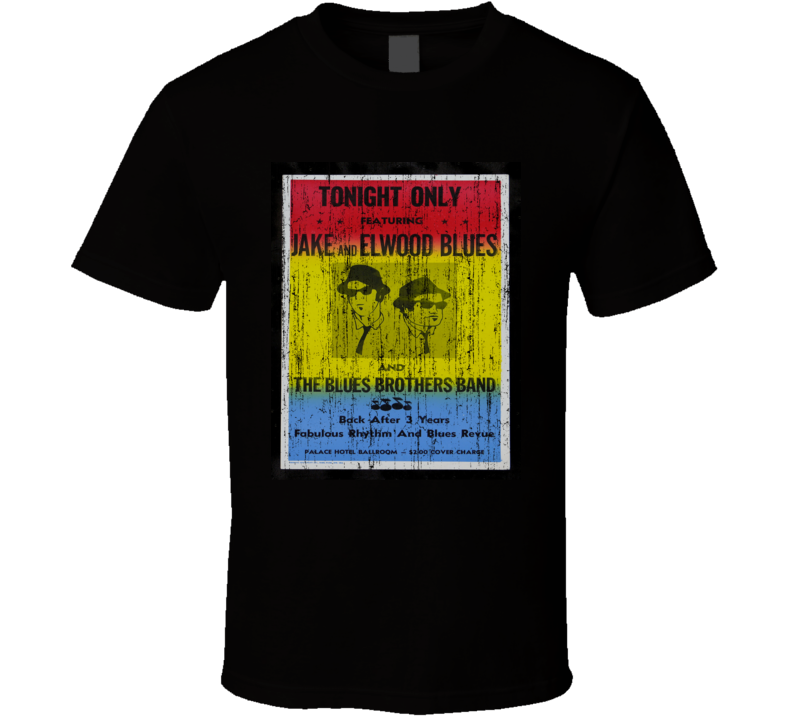 Blues Brothers Concert Poster Distressed Image T Shirt