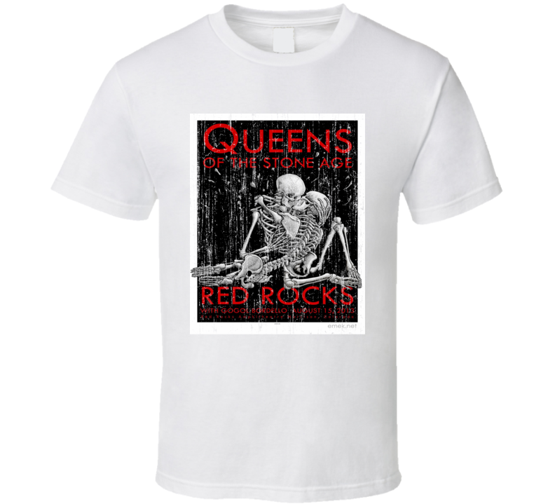 Queens Of The Stone Age Distressed Image T Shirt