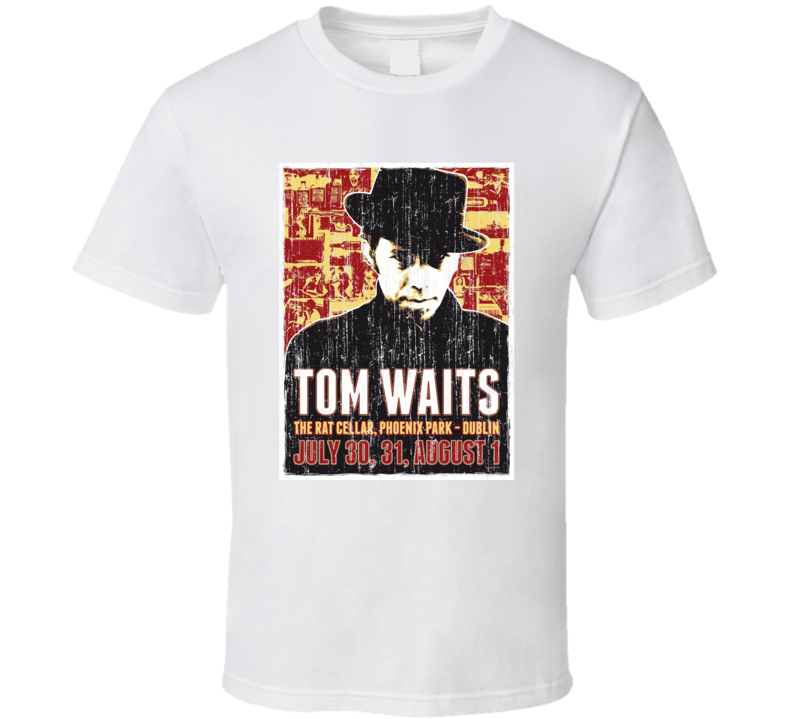 Tom Waits Concert Poster Faded Image T Shirt