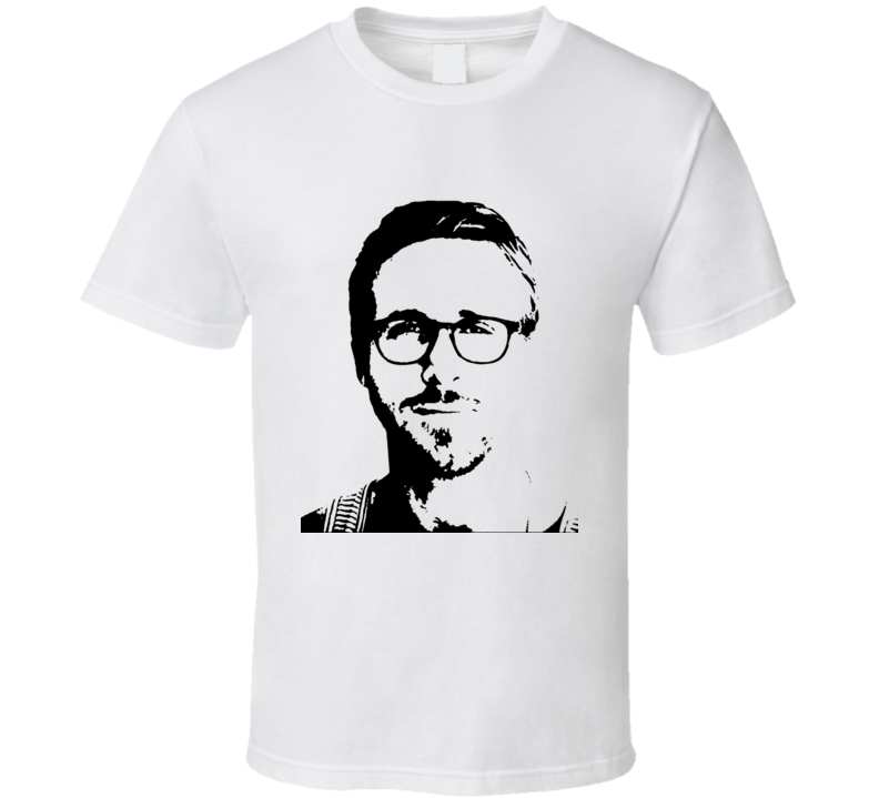 Ryan Gosling Black and White T Shirt