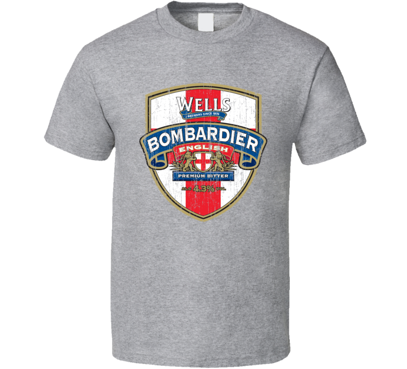Wells Bombardier Beer Aged Look T Shirt