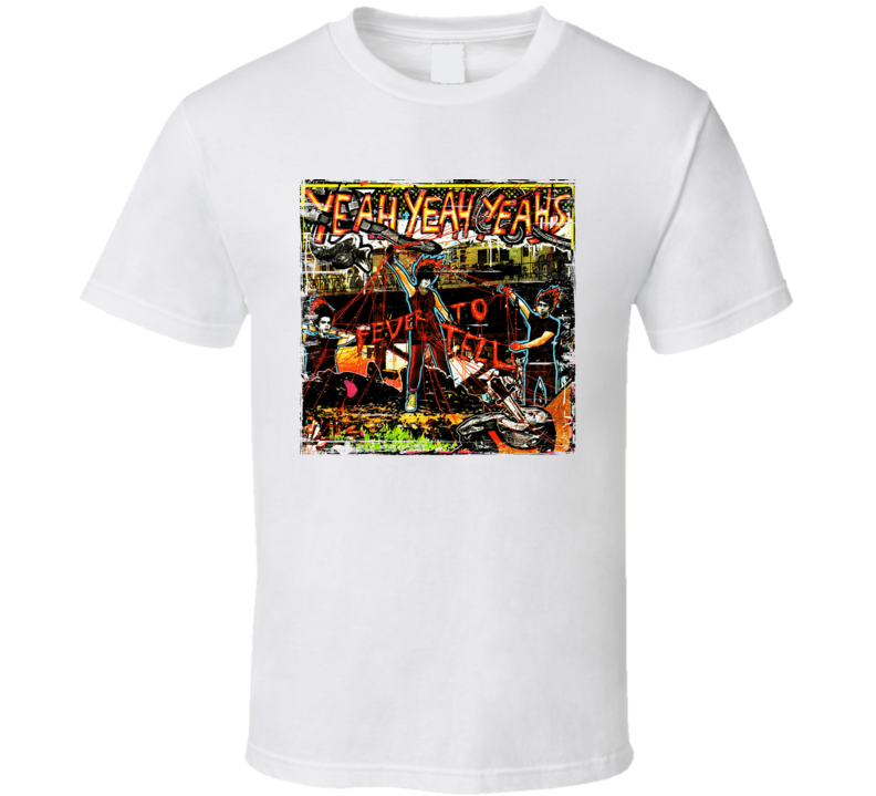 Yeah Yeah Yeah's Fever To Tell Album Aged Look T Shirt