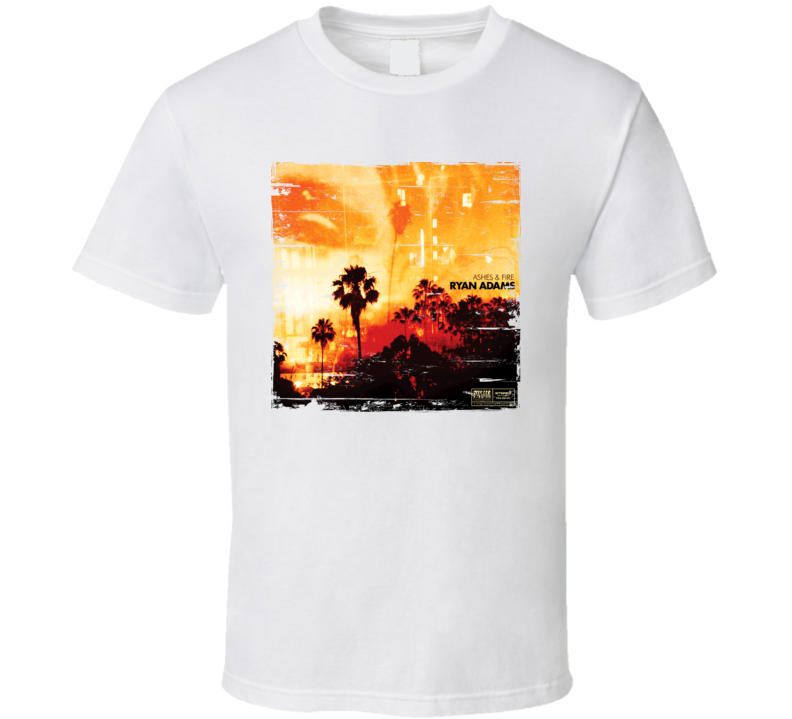 Ryan Adams Ashes And Fire Album Worn Look T Shirt