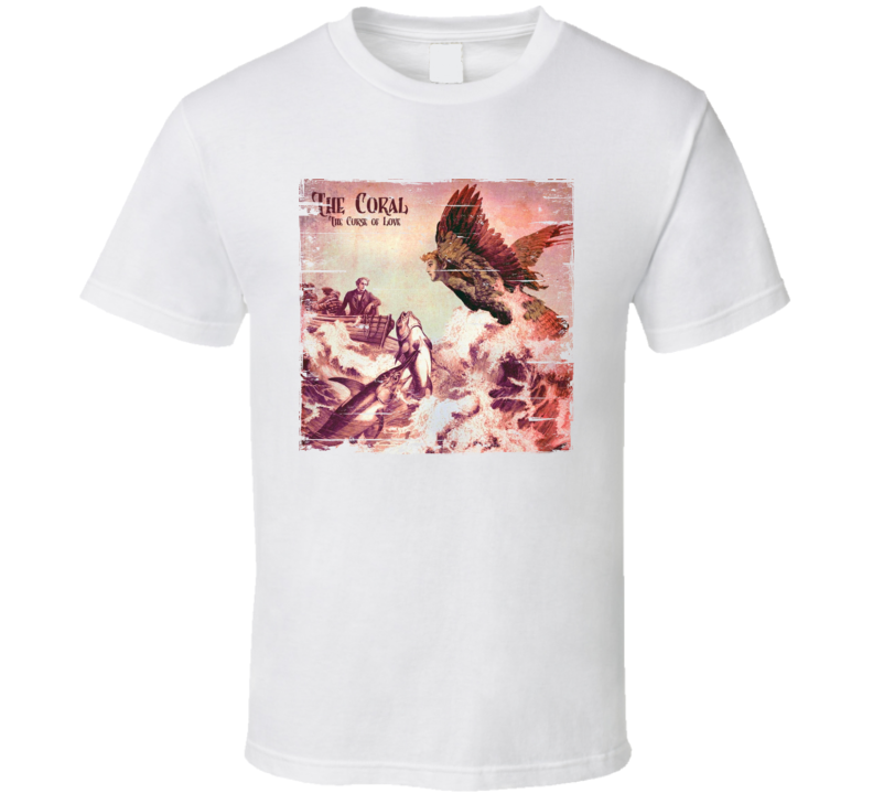 The Coral Album Worn Look T Shirt