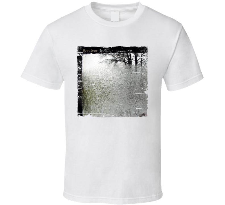 Bon Iver Album Cover Worn Look T Shirt