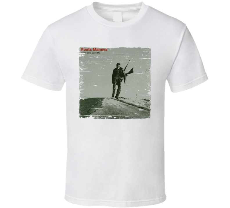 Roots Manuva Run Come Save Me Album Worn Look T Shirt