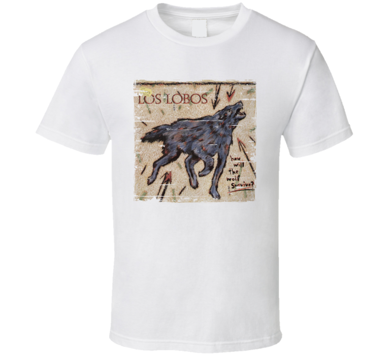 Los Lobos How Will The Wolf Survive Worn Image Tee