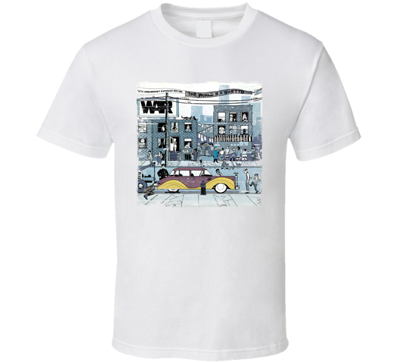 War The World IS A Ghetto Worn Image Tee