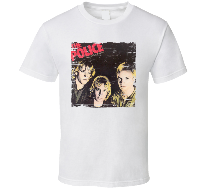 The Police Outlandos D'Amour Worn Image tee