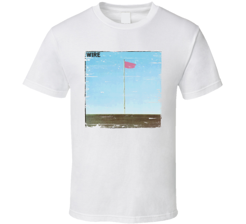 Wire Pink Flag Worn Image Tee