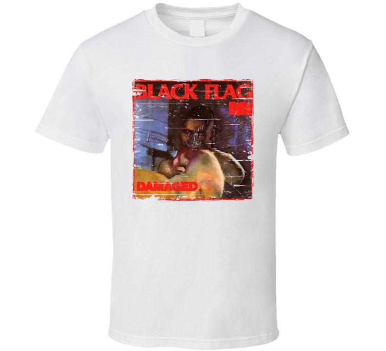 Black Flag Damaged Worn Image Tee