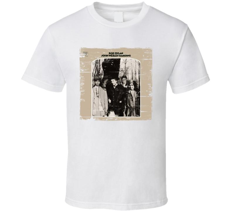 Bob Dylan john Wesley Harding Worn Image Tee