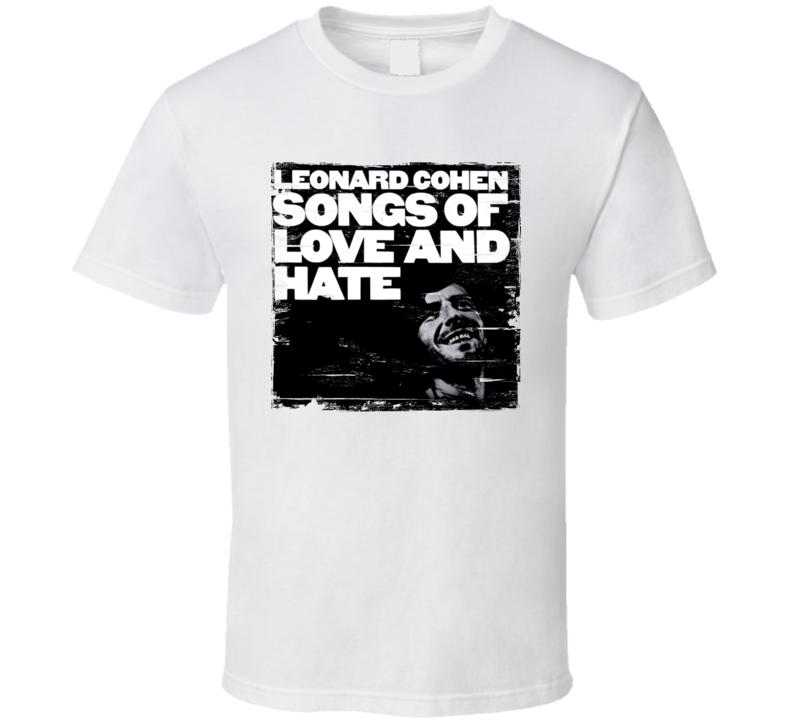 Leonard Cohen Album Worn Image Tee