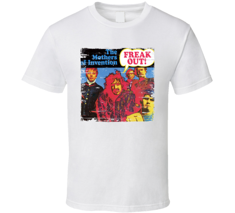 Franks Zappa And The Mother Of Invention Freak Out Worn Image Tee