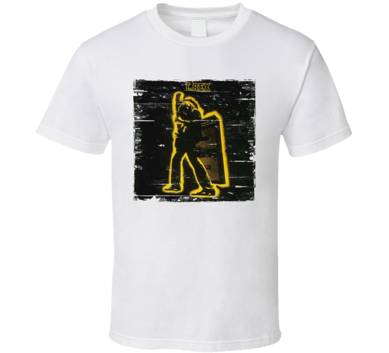T Rex Electric Warrior Worn Image Tee