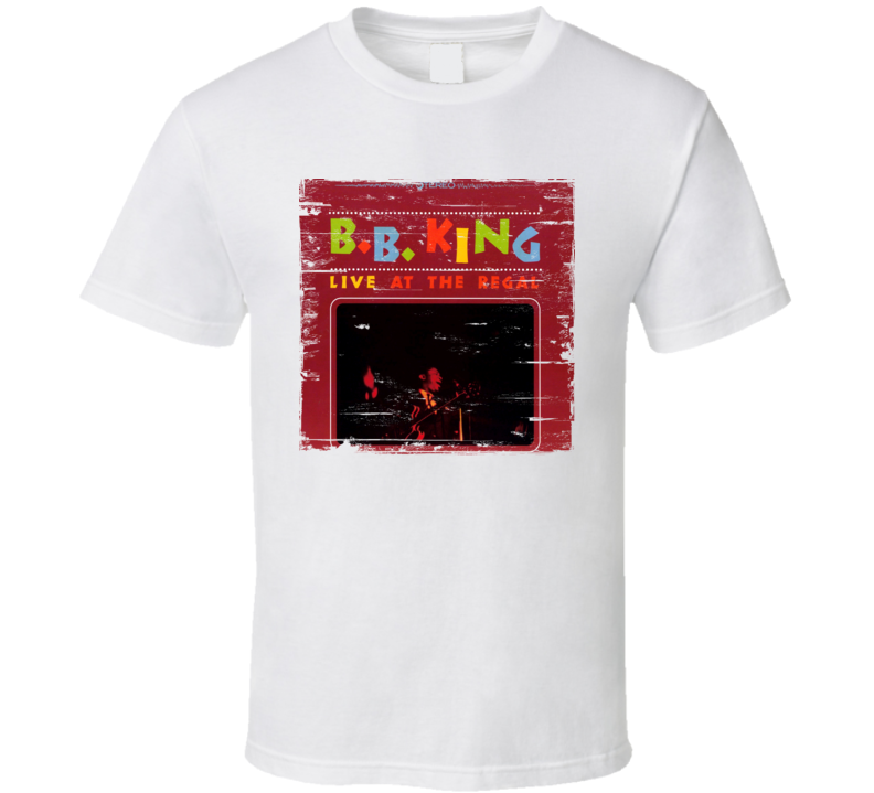 B.B. King Live AT The Regal Worn Image Tee