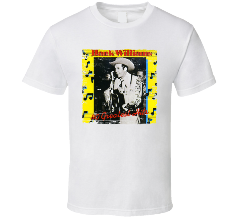 Hank WIliiams Greatest Hits Album Worn Image Tee
