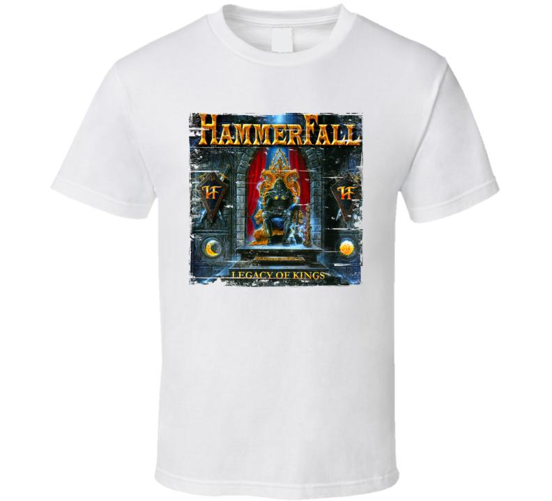 Hammerfall Legacy Of Kings Worn Image Tee