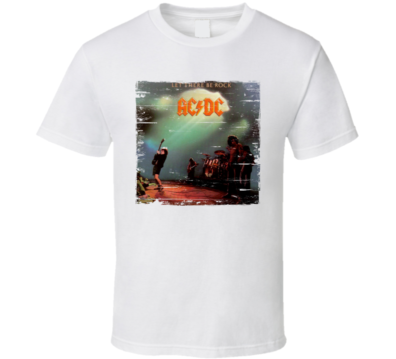AC/DC Let There Be Rock Worn Image Tee
