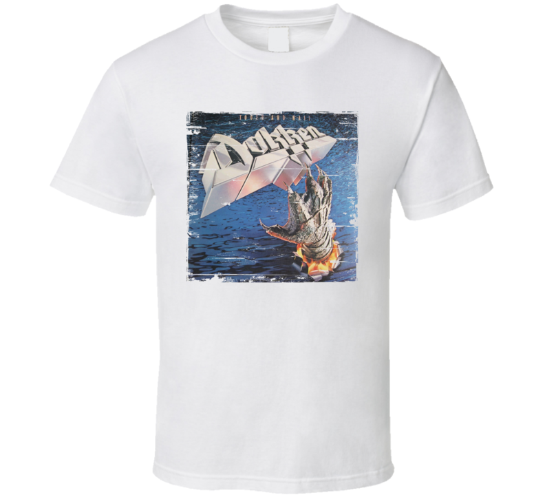 Dokken Tooth And Nail Album Worn Image Tee