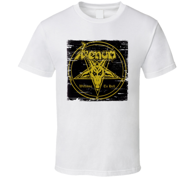 Venom Welcome To Hell Album Worn Image Tee