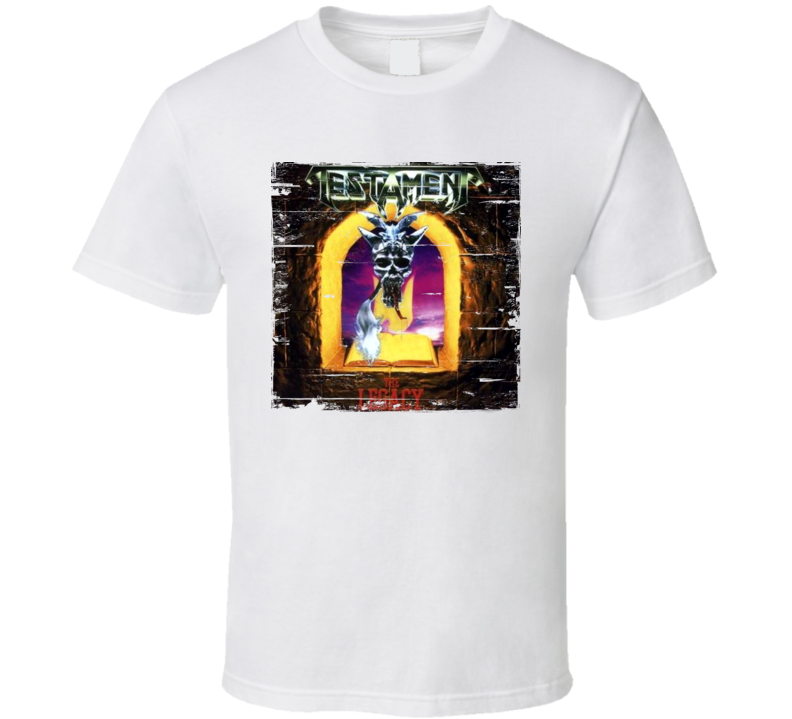 Testament The Legacy Album Worn Image Tee