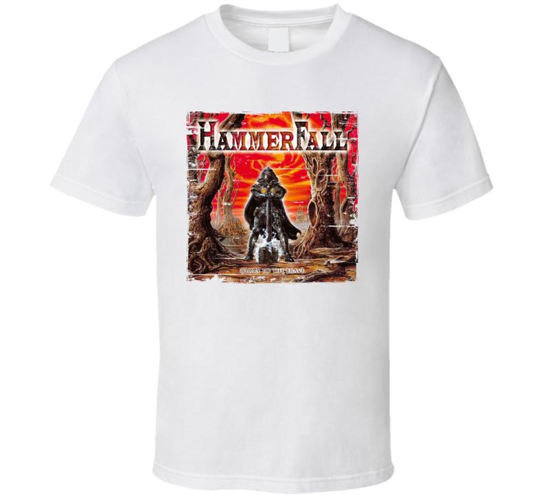 Hammerfall Glory To The Brave Worn Image Tee