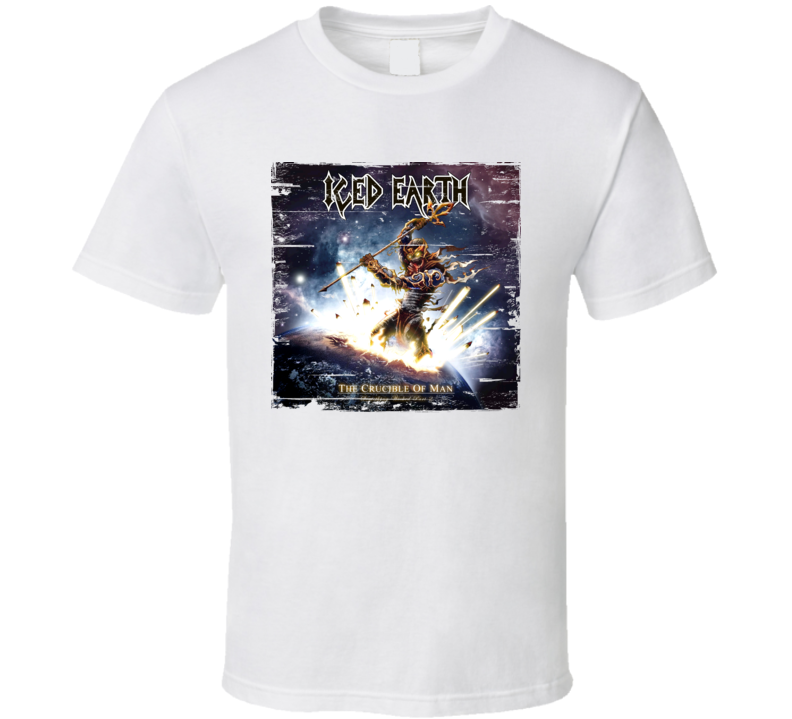 Iced Earth The Crucible of Man Worn Image Tee