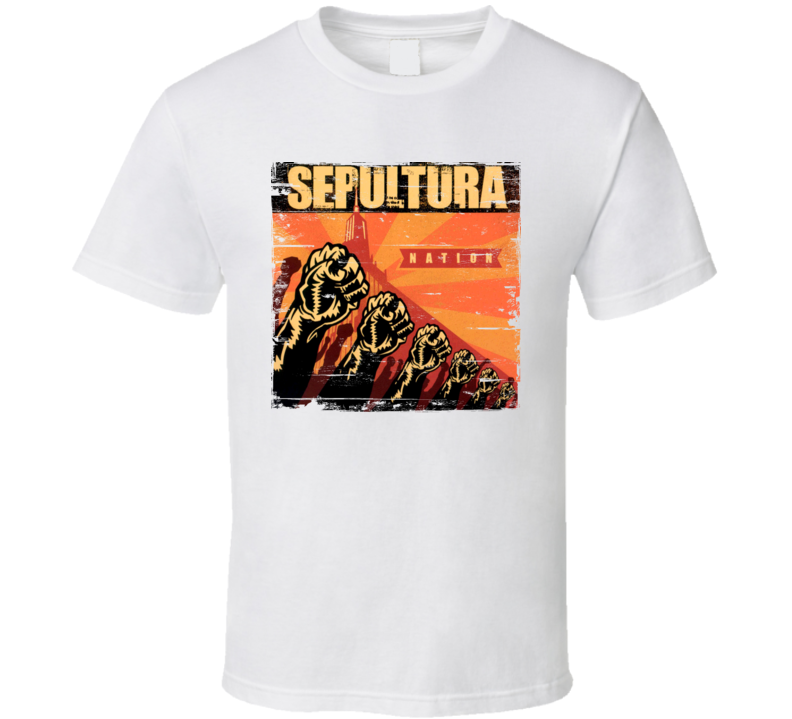 Sepultura Nation Album Worn Image Tee