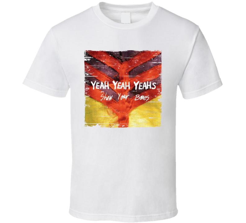 Yeah Yeah Yeahs Show Your Bones Album Worn Image Tee
