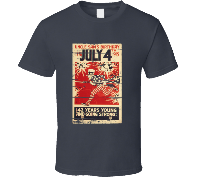 Uncle Sam July 4 Vintage Distressed T-Shirt