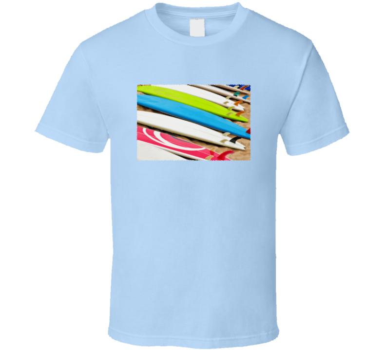 Surfboards on a Beach T-Shirt