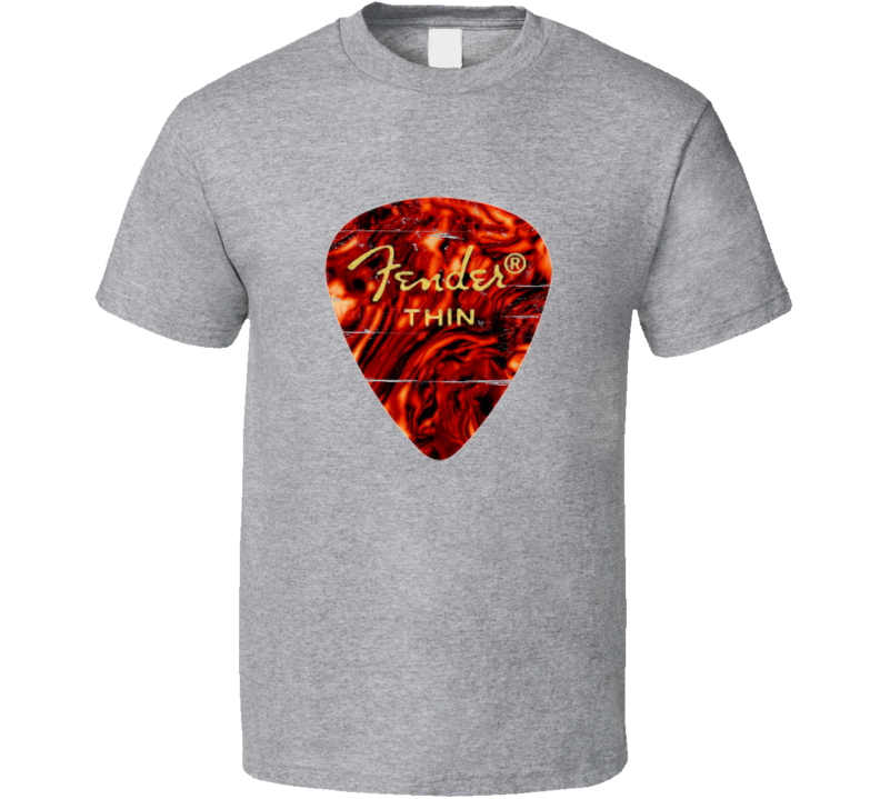 Fender Thin Guitar Pick Distressed T-Shirt