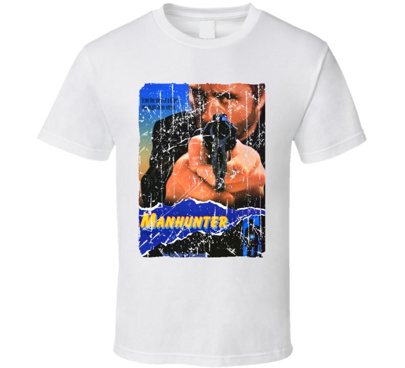 Manhunter Movie Poster Retro Aged Look T Shirt
