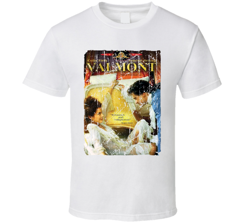 Valmont Movie Poster Retro Aged Look T Shirt