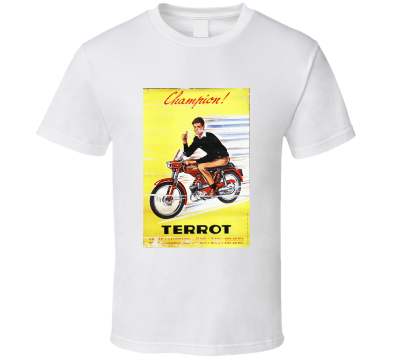 Vintage Scooter Motorcycle Retro Aged Look T Shirt