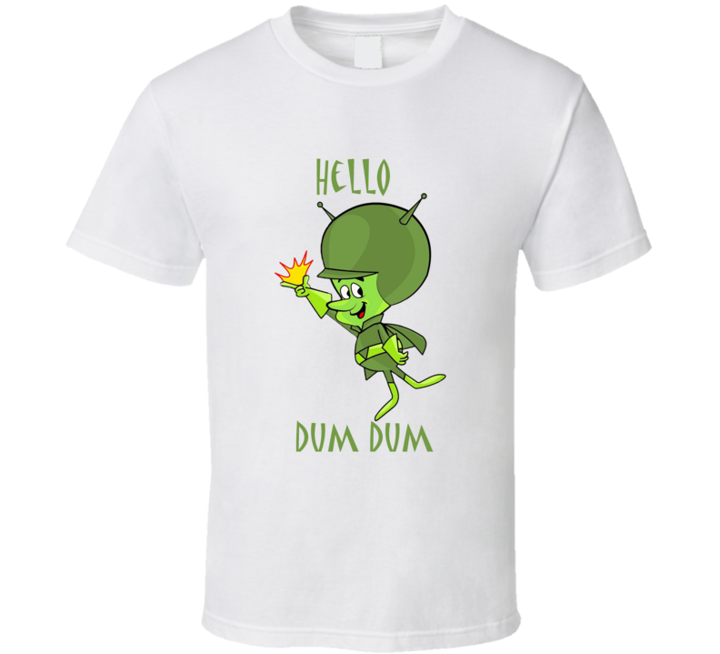 The Great Gazoo Hello Dum Dum The Flintstones Retro T Shirt