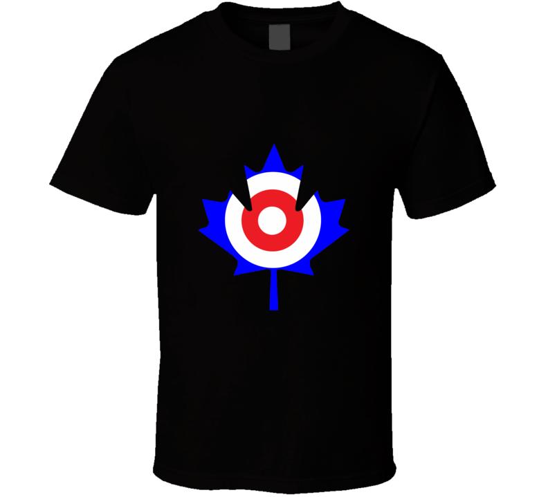 Canada Flag Curling Logo T Shirt