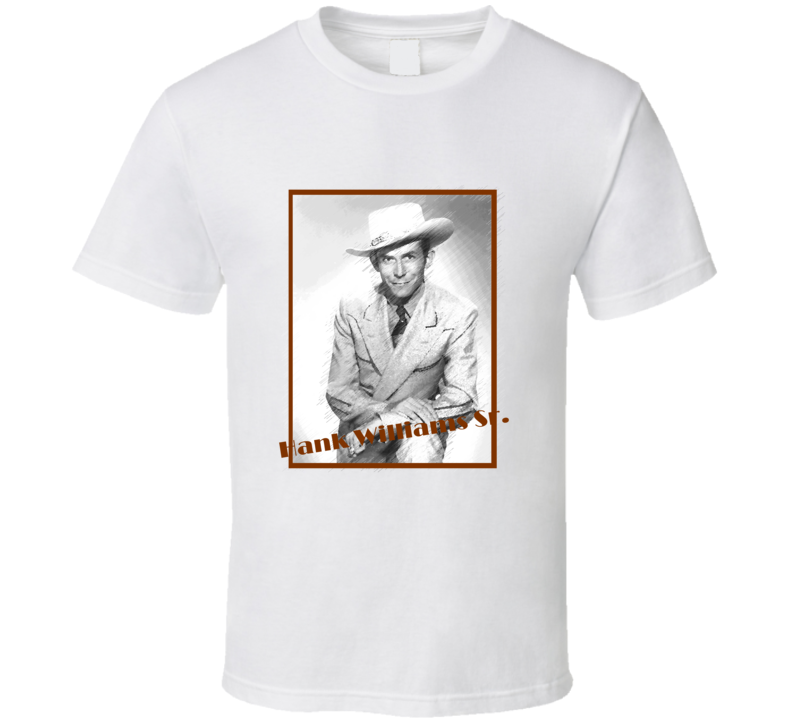 Hank Williams Sr Country Singer aged look T Shirt