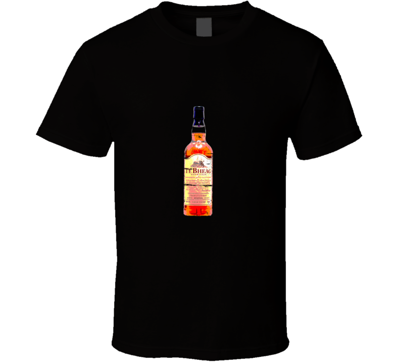 Te-Bheag Scotch Retro Distressed Aged Look T Shirt