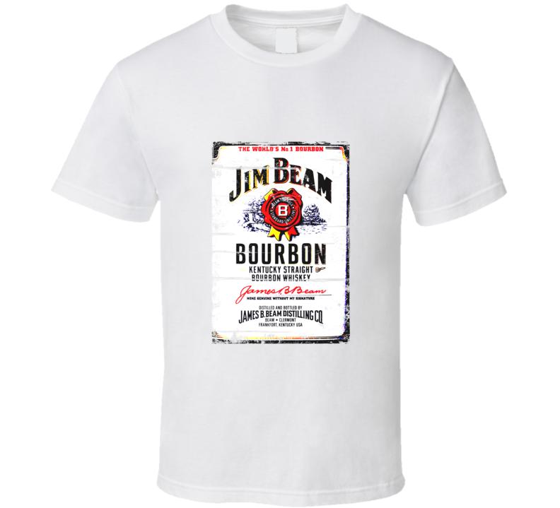 Jim Beam Bourbon Distressed Aged Look T Shirt